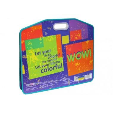 Портфель пластиковый на липучке WOW, А3