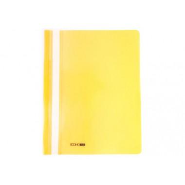 "Папка-швидкозшивач А4 Economix без перфорації, фактура ""апельсин"", жовта E31509-05"