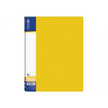 Папка А4 з 20 файлами Economix, жовта E30602-05