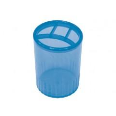 Підставка для ручок на 4 відділення Economix, пластик, синя