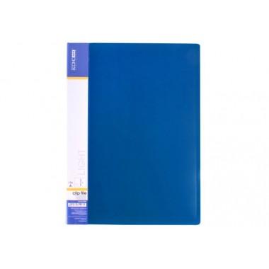 Папка-скоросшиватель А4 с пружинным механизмом Economix CLIP A Light, синяя