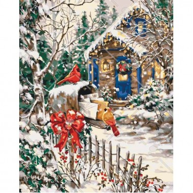 Картина по номерам Идейка Зимняя сказка 40 * 50 см кисти + краски в комплекте