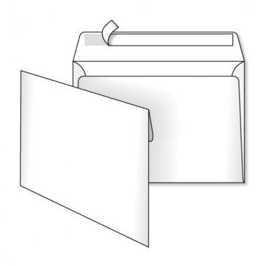Конверт 162*114, белый, СКЛ, 0 0, кл. прямой
