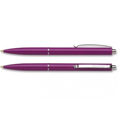 Ручка шариковая автомат. SCHNEIDER К15 0,7 мм. корпус черносмородиновый, пишет синим