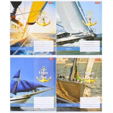 Зошит кольорова 48 аркушів, клітинка «Відкрите море»