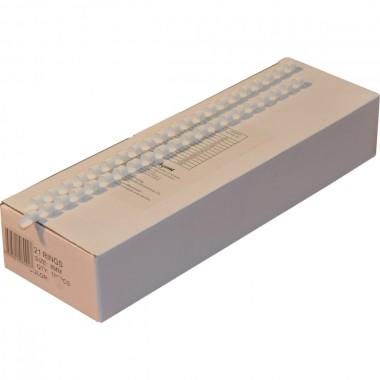 Пружини для палітурки пластикові Agent 8мм бел, уп/100.