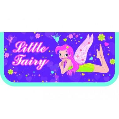"""Пенал пластиковий на блискавці """"Fairy"""", A6, 6010"""