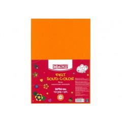 Фетр листовий (поліестер), 20х30см, 180г / м2, світло-оранжевий