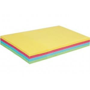 Блок для заметок с клейким слоем 50х75 мм Economix, 100 л., Пастель микс E20958