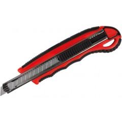 Нож универсальный 9 мм Optima метал.направляющая пласт. корпус с резин. вставками