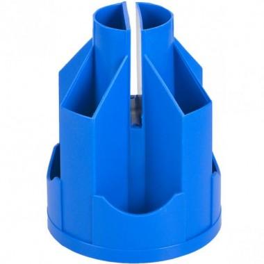 Підставка настільна В21, обертається на 360°, пластик, синя