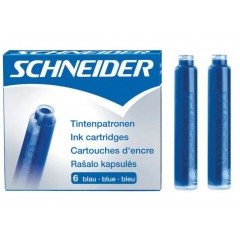 Патрон чорнильний до перової ручки SCHNEIDER, синій