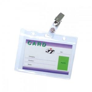 Бедж горизонтальный CD-108 D (вн. 105х65) с прищепкой