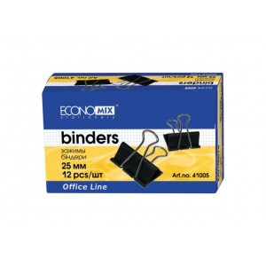 Біндери для паперу 19 мм Economix, 12 шт.