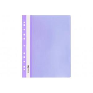 """Папка-скоросшиватель А4 Economix с перфорацией, фактура """"глянец"""", фиолетовая E31510-12"""
