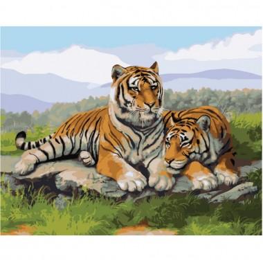 Картина за номерами ідейка Після полювання 40х50 см пензля + фарби в комплекті
