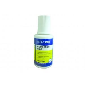 Корректирующая жидкость Economix с кисточкой, 20 мл