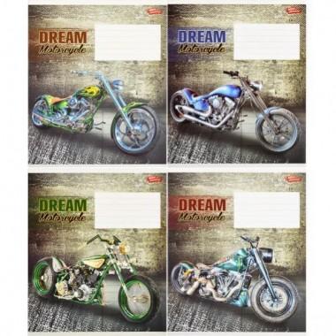 Зошит кольорова 48 аркушів, клітинка «Мотоцикл мрії»