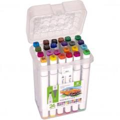 Набор скетч-маркеров 24 цвета в пластиковом боксе