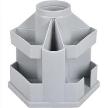 Подставка настольная В61 Economix, вращается на 360 °, пластик, серая