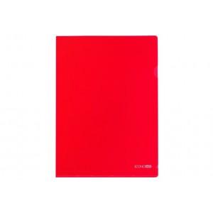 """Папка-куточок А4 Economix, 180 мкм, фактура """"глянець"""", червона"""