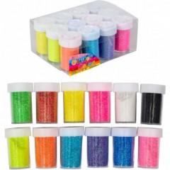 Неонові блискітки (гліттер) 144г 12 кольорів 12шт. в упаковці (ціна за 1 шт.)