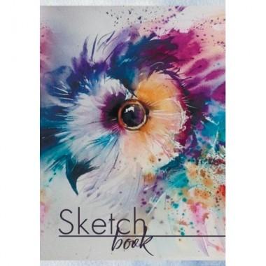 Sketch-book ф.А5 30 л, цел.картон, УФ-лак, офс 100г / м2, на пружине