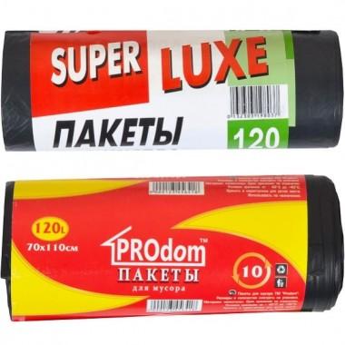 Пакет для мусора 70х110 120л 10 штук Super Luxs/PACK/PROdom