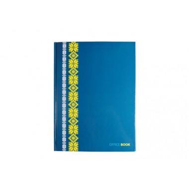 "Блокнот ""Орнамент"", А4, твердая обложка, 96 арк., клетка, синий"