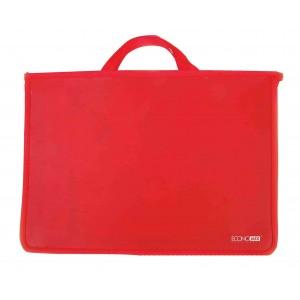 Портфель пластиковый А4 Economix на молнии, 2 отделения, красный