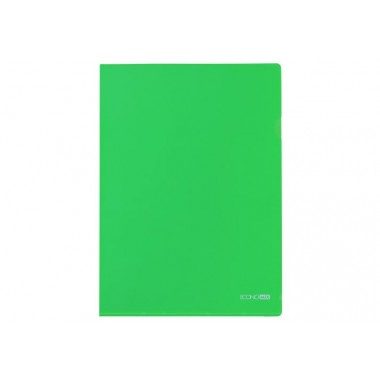 Папка-уголок А4 Economix, 180 мкм, фактура глянец, зеленый