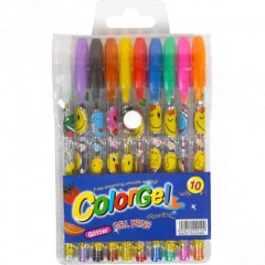 Набор ручек ароматизированных гелевых 10 цветов