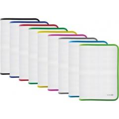 Папка-пенал пластикова на блискавці Economix, А4, прозора, фактура: тканина, блискавка асорті