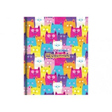 Шкільний щоденник, 165х210 мм, Cats