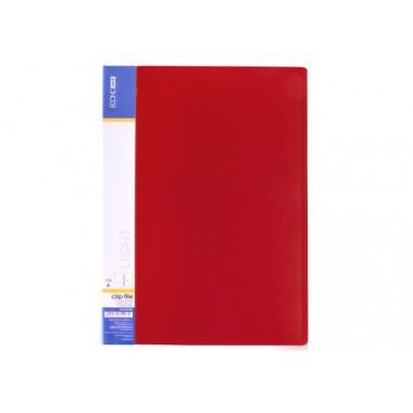 Папка-скоросшиватель А4 с пружинным механизмом Economix CLIP A Light, красная