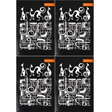 """Записна Книжка А6 """"Графіка"""" 36л., Black/White клітка, скоба"""
