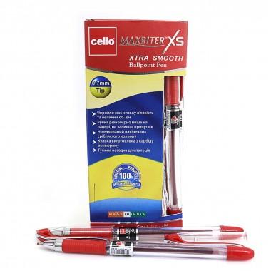 """Ручка Cello Індія, оригінал """"Maxriter XS"""" червона 0,7 мм"""