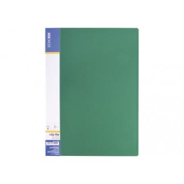 Папка А4 с боковым прижимом Economix CLIP В Light , зеленая
