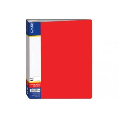 Папка А4 з 60 файлами Economix, червона E30606-03