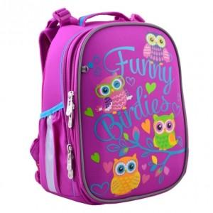 Рюкзак школьный  каркасный YES H-25 Funny Birdies