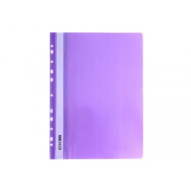 """Папка-скоросшиватель А4 Economix с перфорацией, фактура """"апельсин"""", фиолетовая E31508-12"""