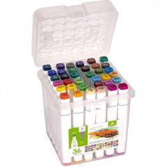 Набір скетч-маркерів 36 кольорів в пластиковому боксі