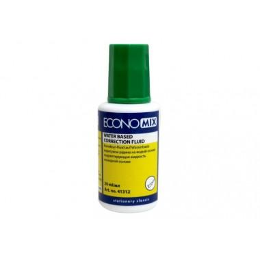Корректирующая жидкость Economix с кисточкой, водная основа , 20мл