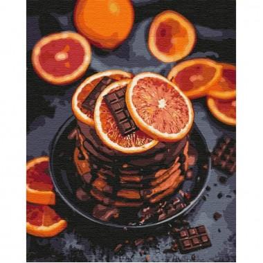 Картина за номерами  Апельсиново-шоколадна насолода  40*50см