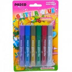 Клей с блёстками 10 мл Pasco 6 цветов F-019-04