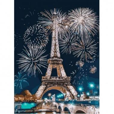 Картина за номерами  Вогні Парижу  30*40см
