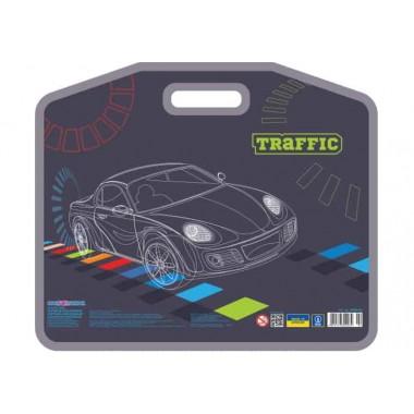 """Портфель пластиковый на липучке """"Traffic"""", А3"""