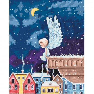 Картина за номерами ідейка Діти Янголятко 2 40 * 50см пензлі + фарби в комплекті