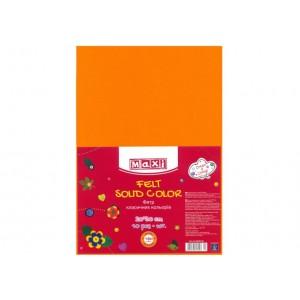 Фетр листовой (полиэстер), 20х30см, 180г / м2, светло-оранжевый