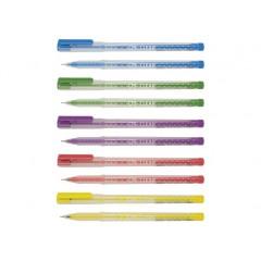 Ручка шариковая Clear, цвет чернил: синий, 0,7 мм, ассорти
